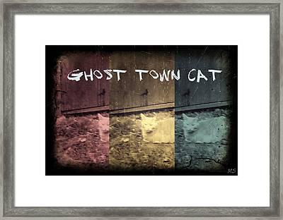 Ghost Town Cat Framed Print by Absinthe Art By Michelle LeAnn Scott