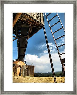 Ghost Town Framed Print by Claudette Bujold-Poirier