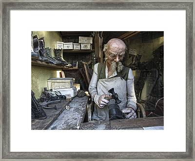 Ghost Town Cobbler - Virginia City - Montana Framed Print by Daniel Hagerman