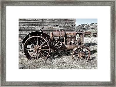 Ghost Town Farm Tractor - Molson Washington Framed Print