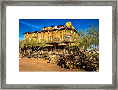Ghost Town Goldfield Arizona 2 Framed Print by Bob and Nadine Johnston