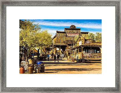 Ghost Town Goldfield Arizona Framed Print by Bob and Nadine Johnston