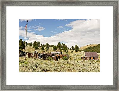 Ghost Town In Summer Framed Print by Sue Smith