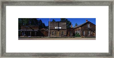 Ghost Town Nevada City Mt Framed Print