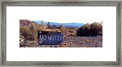Ghost Town - No Water Framed Print by Maria Arango Diener
