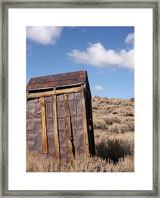 Ghost Town Outhouse Framed Print by Art Block Collections