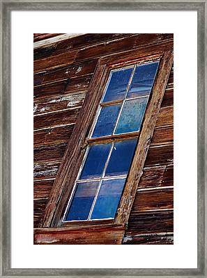 Ghost Town Panes Framed Print