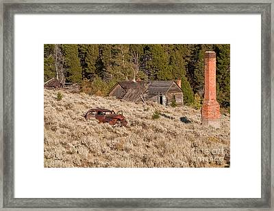 Ghost Town Remains Framed Print