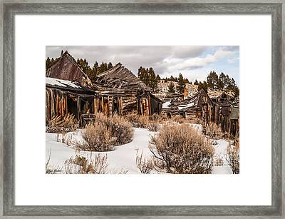 Framed Print featuring the photograph Ghost Town by Sue Smith