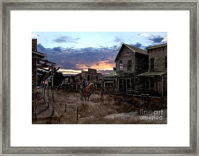 Ghost Town  Framed Print by Tom Straub