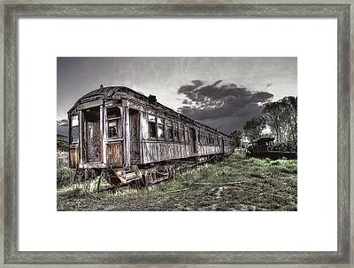Ghost Town Train - Montana Framed Print by Daniel Hagerman