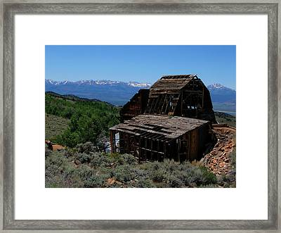 Ghost Town With View Of Eastern Sierras Framed Print