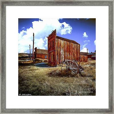 Ghost Towns In The Southwest Framed Print by Bob and Nadine Johnston