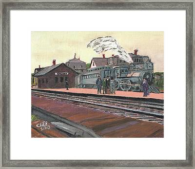 Ghost Train Framed Print by Cliff Wilson