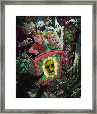Ghost Train Fun Fair Kids Framed Print by Martin Davey