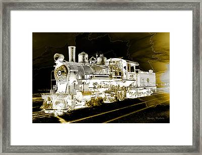 Framed Print featuring the photograph Ghost Train by Gunter Nezhoda