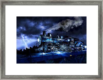 Ghost Train Framed Print by Tristin Godsey