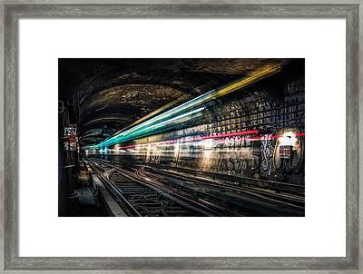 Ghost Train Framed Print by Xavier Liard