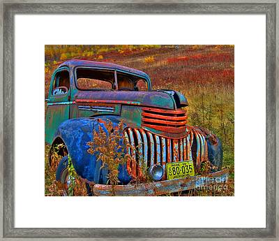 Framed Print featuring the photograph Ghost Truck by Alana Ranney
