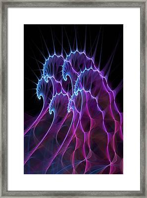 Ghost Waves Framed Print by Anastasiya Malakhova