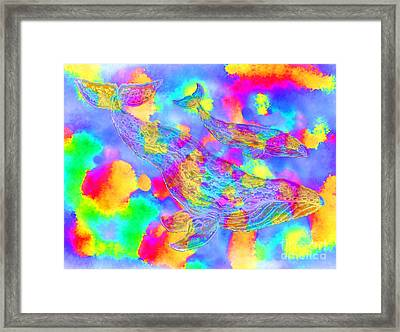 Ghost Whales Framed Print by Nick Gustafson