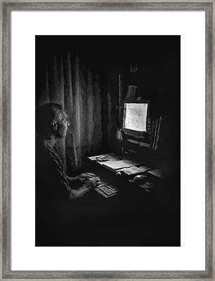 Ghost Writer Framed Print by Steve Ohlsen