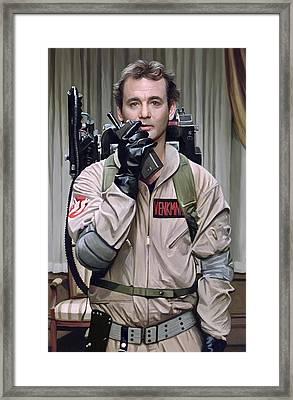 Ghostbusters - Bill Murray Artwork 2 Framed Print by Sheraz A