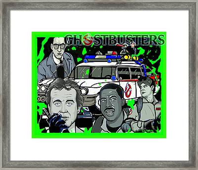 Ghostbusters Framed Print by Gary Niles