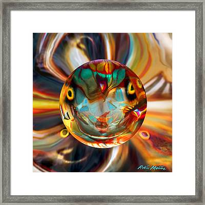 Ghosted Polyphemus Moth Framed Print