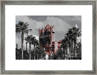 Ghostly At The Tower Framed Print