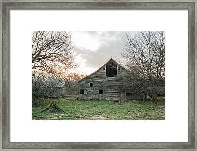 Ghostly Barn Framed Print