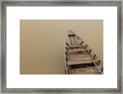 Ghostly Boat Framed Print by David Warrington