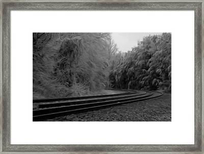Framed Print featuring the digital art Ghostly Curves by Kelvin Booker