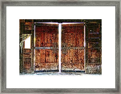 Ghostly Doors By Diana Sainz Framed Print by Diana Sainz