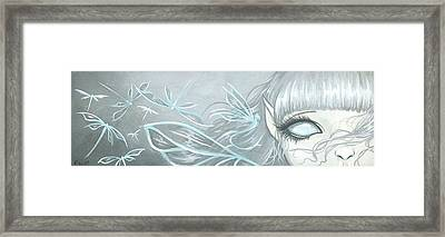 Ghostly Dragonfly Fairy Framed Print
