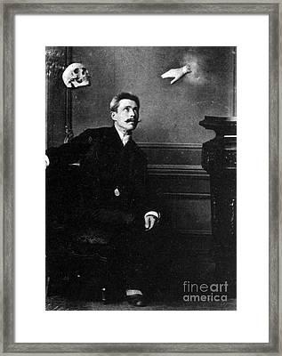 Ghostly Manifestation Or Trick Framed Print