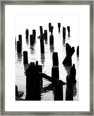 'ghostly Pilings' Framed Print