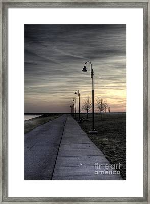 Ghostly Walkway Framed Print