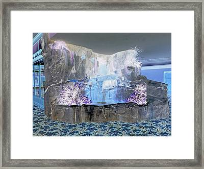 Ghostly Waterfall Framed Print by Marian Bell