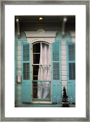 Ghostly Window Framed Print