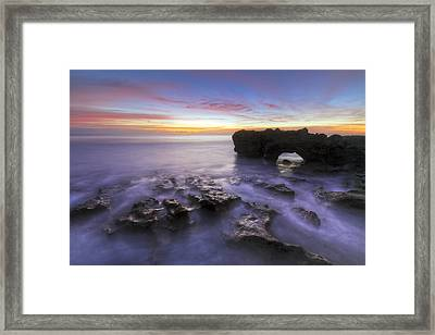 Ghosts In The Cove Framed Print by Debra and Dave Vanderlaan