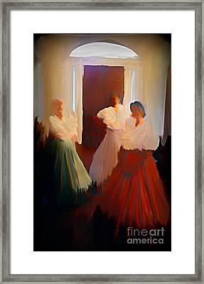 Ghosts Of A Louisianna Plantation Framed Print by John Malone