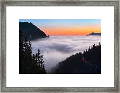 Ghosts Of Nisqually Framed Print by Ryan Manuel
