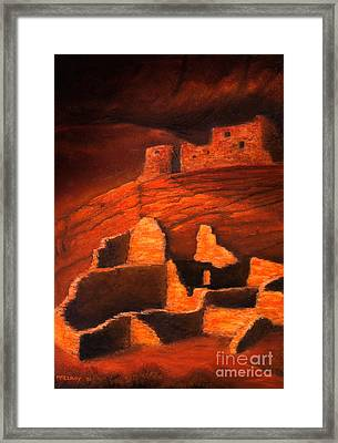 Ghosts Of White House Ruins Framed Print by Jerry McElroy