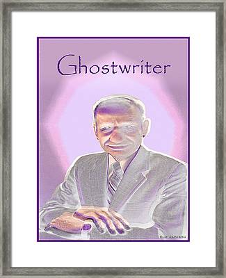 Ghostwriter Framed Print by Clif Jackson