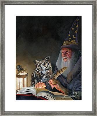 Ghostwriter Framed Print