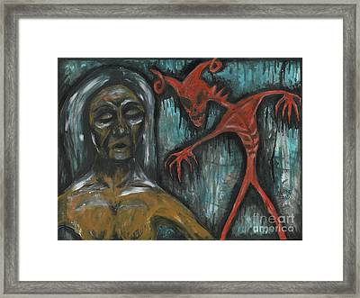 Ghouls At The Cemetery Framed Print by Marisol McKee