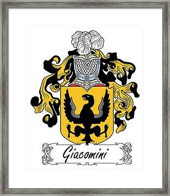 Giacomini Coat Of Arms Di Firenze Framed Print