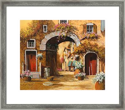 Giallo Arancio Framed Print by Guido Borelli