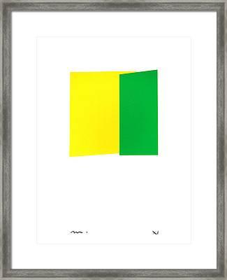 Giallo E Verde Framed Print by Moran  de Musee